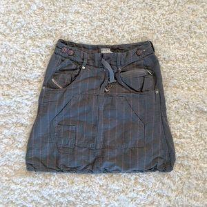 Diesel WMN's Gray & Pink Striped Skirt SZ 28